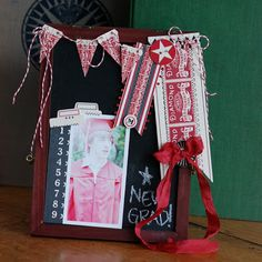by Betsy Sammarco using the Chalkboard Easel - this gives me tons of ideas!