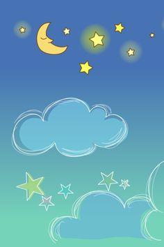 Kawaii Background, Star Background, Phone Backgrounds, Wallpaper Backgrounds, Iphone Wallpaper, Blue Wallpapers, Funny Wallpapers, Stars At Night, Stars And Moon