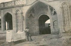 صورتان لأحد مقرات قوات الجندرمة العثمانية في بغداد الصورتين عام 1919
