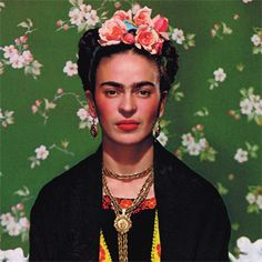 "Frida Kahlo- ""…one of history's grand divas…a tequila-slamming, dirty joke-telling smoker, bi-sexual that hobbled about her bohemian barrio in lavish indigenous dress and threw festive dinner parties"