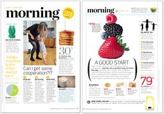 layout from Working Mother Magazine Editorial Design, Editorial Layout, Web Design, Page Design, Print Design, Design Trends, Graphic Design, Newspaper Layout, Newspaper Design