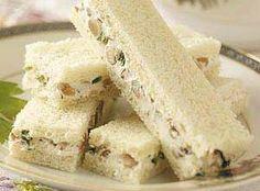 Walnut-Cream Cheese Finger Sandwiches Recipe Photo