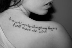 Beautiful typography tattoo.