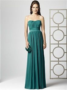 Beautiful teal bridesmaid dress from Dessy Collection