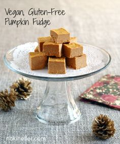 Pumpkin Palooza: Healthy Pumpkin Fudge (vegan, gluten-free, refined sugar-free)