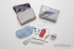 Air France Business Class & Premium Economy Amenity Kits - empfohlen von First Class and Fly Around The World, Hotel Amenities, Air France, Business Class, Travel Kits, 30th Anniversary, Travel Essentials, Luxury Travel, Coin Purse