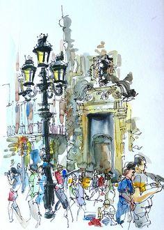 La Rambla, Barcelona by suhita1, via Flickr