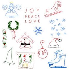 Simply Christmas Embroidery Designs