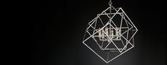 Caged Cubist Pendant | RH Modern
