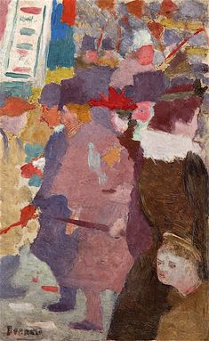 pierre bonnard(1867-1947), the street, 1889. oil on panel, 26.8 x 17 cm. private collection http://www.the-athenaeum.org/art/detail.php?ID=234376