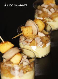 Boudin blanc et duo de deux pommes
