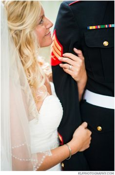 Military, Marine, Bride, Groom, Pose, Wedding | KLP Photography