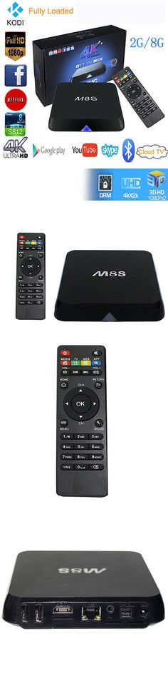 Internet and Media Streamers: M8s Uhd 4K*2K 2G+8G Amlogic S812 Quad Core Android 4.4 Smart Tv Box Xbmc Bt BUY IT NOW ONLY: $41.4