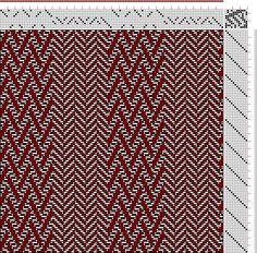 Hand Weaving Draft: Figure 3087, Atlas de 4000 Armures, Louis Serrure, 10S, 12T - Handweaving.net Hand Weaving and Draft Archive