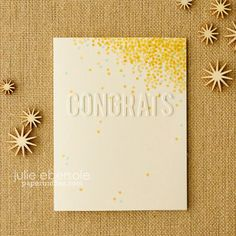 Faux Embossed Congrats - try with versamark / gold embossing powder