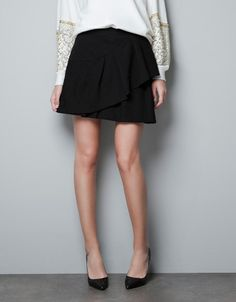 JACQUARD SKIRT WITH FRILL