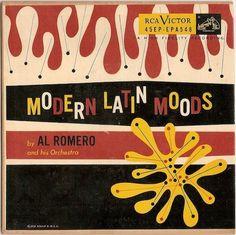 Modern Latin Moods amoebic record sleeve design. 1960s.