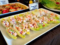 skinny shrimp salad served in endive leaves#Repin By:Pinterest++ for iPad#