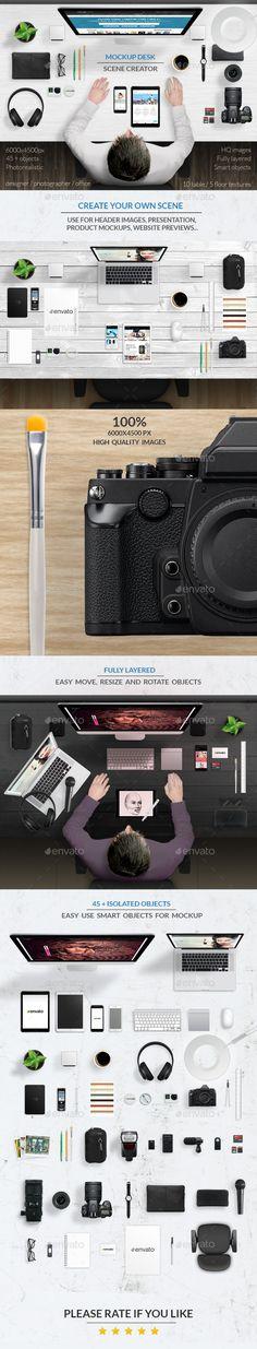 Mockup Desk Scene Creator #design Download: http://graphicriver.net/item/mockup-desk-scene-creator/12094550?ref=ksioks
