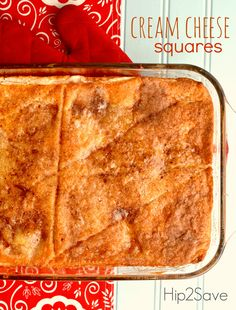 Cream Cheese Squares Recipe by Hip2Save (It's Not Your Grandma's Coupon Site!)