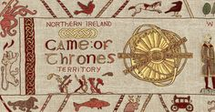 Tales told in ancient territories and woven in Northern Ireland. Northern Irish weavers are creating a tapestry of every Game of Thrones epiosde. Hand woven with Northern Irish linen, it now measures 77 meters long, and will have hand embroidered details when it's finished!