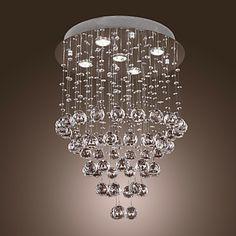 Crystal+Chandelier+with+5+lights+-+Baroque+Design+(K9+Crystal)+-+USD+$+279.99