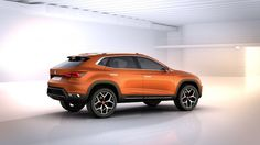 SEAT boss Jürgen Stackmann unveiled the brand's Vision 2020 concept car at last night's Volkswagen Group media event, a prelude to today's official opening of the Geneva motor show. Crossover, Sporty Suv, Porsche, Audi, Seat Cupra, Navy Blue Living Room, Small Suv, Volkswagen Group, Cars