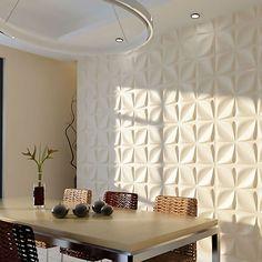 Odessa EnduraWall Decorative 3D Wall Panel, White