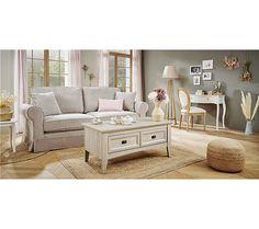Canapé 3 places déhoussable ELOISE tissu grège - Canapé BUT Fibres, Canapes, Decoration, Entryway Bench, Couch, Storage, Furniture, Home Decor, Products