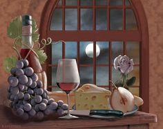 """Chianti by Moonlight"" by Rosiland Solomon"