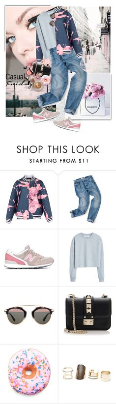 """""""casual friday"""" by giogiota ❤ liked on Polyvore featuring Chanel, GaÃ«lle Bonheur, New Balance, MANGO, Christian Dior, Valentino, Disney, Iscream, With Love From CA and women's clothing"""