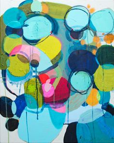 """""""Under The Influence"""" by Claire Desjardins. 24""""x30"""" - Mixed media (acrylics and oil sticks on canvas)."""