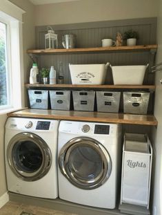 Basement Laundry Room Decorations Ideas And Tips 2018 Small laundry room ideas Laundry room decor Laundry room makeover Farmhouse laundry room Laundry room cabinets Laundry room storage Box Rack Home Small Laundry Rooms, Laundry Room Design, Laundry In Bathroom, Bathroom Plumbing, Laundry Decor, Farmhouse Laundry Rooms, Garage Laundry, Bathroom Closet, Bathroom Small