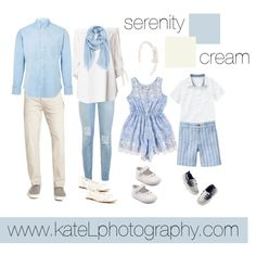 Serenity + Cream // Family Outfit by katelphoto on Polyvore featuring TIBI, 7 For All Mankind, Soludos, Caslon, AMI, Gymboree and Carter's