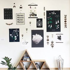 Bohemian gallery wall art from Haus Witch. Boho decor