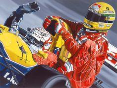 Nigel Mansell & Ayrton Senna 1991.