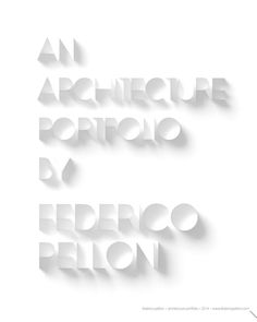 ISSUU - Federico Pelloni architecture portfolio - 2014 - IT by Federico Pelloni