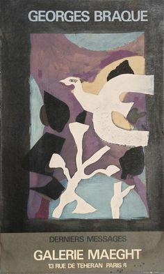 Georges Braque, Affiche Derniers Messages, Galerie Maeght, 1960