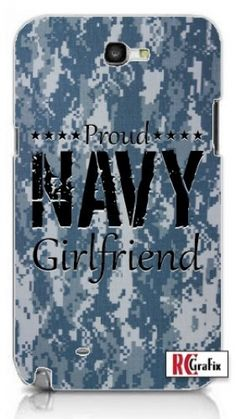 Camouflage Proud Navy Girlfriend Digital Camo Blue Unique Quality Hard Snap On Case for Samsung Galaxy Note 2 Note II N7100 (WHITE). High-Quality Samsung Galaxy Note 2 case with a unique design directly printed on the cover. Designed in house by our Graphic Designer. If you see this design somewhere else it is a copy. We are the original designer of This Top Of The Line Polycarbonate Hard Case offers perfect protection and fit for your phone. Printed in the USA - Ships from the USA. Case is…
