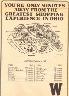 12 best columbus oh images on pinterest columbus ohio vintage westland mall advertisement malvernweather Gallery
