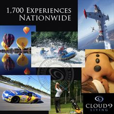 A Cloud 9 Living Experience Gift card is the perfect gift for the person who has everything! A gift recipient can go skydiving, on a food tour, race car driving, plane flying and more! Check out all the options at www.Cloud9Living.com