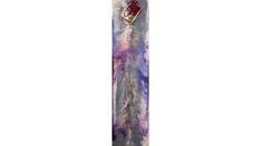 Metallic purple clock Silver Decor by ReformationsGlassArt on Etsy