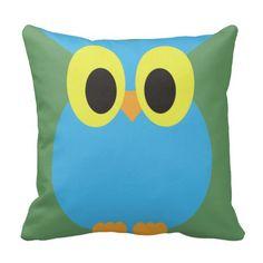 Blue Owl American MoJo Pillow