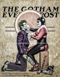 Joker and Harley Quinn - Gotham Evening Post by Lady-Ha-ha on DeviantArt