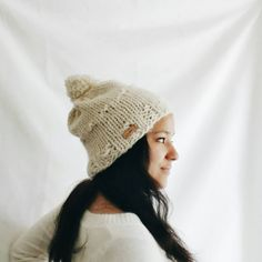 Womens winter hat Knit slouchy hat  Knit hat by reneeoriginals1