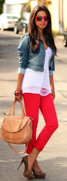 #spring #fashion | Red, White and Blue | VivaLuxury