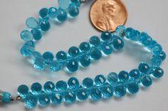 Sky Blue Hydro Quartz Drops by Lilipool on Etsy, $25.00.  Too bright?  Lab grown...