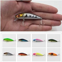 1Pcs Fishing Minnow Lure 8.5cm/7.7g Laser Reflective 3D Eyes Hard Baits 6#Hooks For Wobblers Pike Winter Sea Fishing Decoy Tools