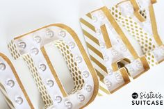 Washi tape marquee l