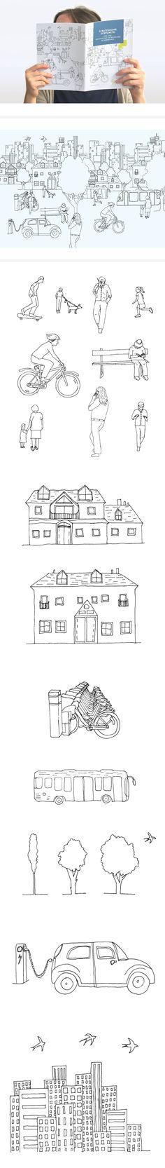 Nachhaltige Entwicklung in Kommunen – ein Strategiepapier zur Stadt der Zukunft #illustration #sustainable #city #urban Editorial Design, Grafik Design, Sustainability, Russia, Sheet Music, Sayings, Illustration, Sustainable Development, Landscape Maintenance